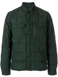 Ami Alexandre Mattiussi Snap Buttonned Quilted Jacket Green
