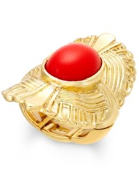 Thalia Sodi Gold Tone Red Stone Fan Stretch Ring Only At Macy's
