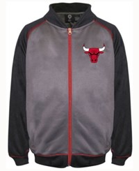 Majestic Men's Chicago Bulls Wow Track Jacket Charcoal Red Black
