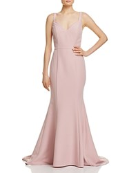 Jarlo V Neck Gown Dusty Pink