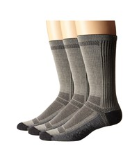 Wigwam Ultra Cool Lite Crew 3 Pack Grey Crew Cut Socks Shoes Gray