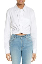 Alexander Wang Women's T By Cotton Twist Hem Shirt