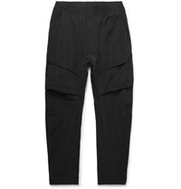 Nike Tech Pack Tapered Checked Stretch Nylon Blend Cargo Trousers Black