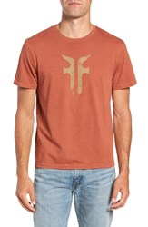 Frye Double F Logo T Shirt Baked Clay