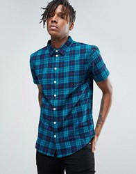 Another Influence Check Shirt Blue