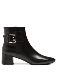 Tod's Leather Ankle Boots Black