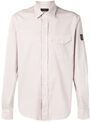 Belstaff Angled Pocket Shirt Neutrals