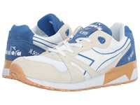 Diadora N9000 Iii White Princess Blue Athletic Shoes