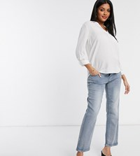 Mamalicious Maternity Mom Jeans In Blue Light Wash