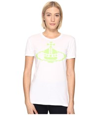 Vivienne Westwood Embroidered Orb T Shirt Optical White