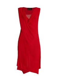 Vivienne Westwood Stitch Draped Crepon Dress Red