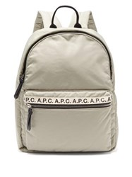 A.P.C. Logo Print Backpack Grey