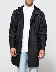 Rains Long Jacket In Black