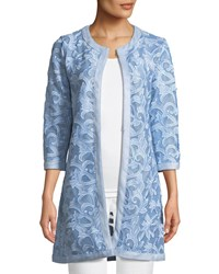 Grayse Embroidered Mesh Topper Jacket Blue