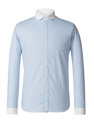 Gibson Men's Pale Blue Penny Round Shirt Blue