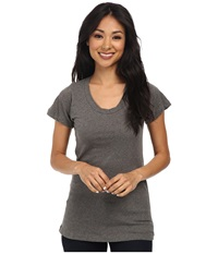 Lna S S Crew Grey Women's Short Sleeve Pullover Gray