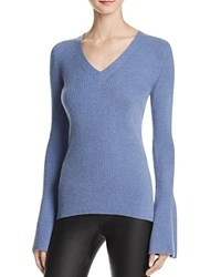 Rebecca Minkoff Stevie Bell Sleeve Cashmere Sweater French Blue