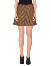 Mauro Grifoni Skirts Mini Skirts Women Orange