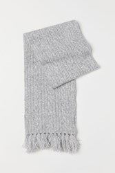 Handm H M Cable Knit Scarf Gray