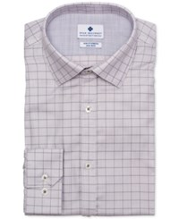 Ryan Seacrest Distinction Ultimate Active Slim Fit Non Iron Performance Stretch Dobby Check Dress Shirt Lt Beige