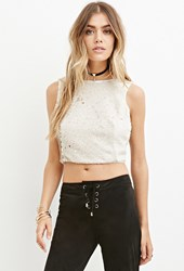 Forever 21 Sequined Crop Top Gold
