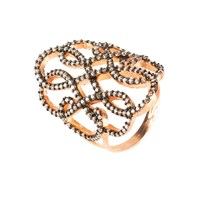 Latelita London Antoinette Ring Rosegold Champagne Zircon Rose Gold Brown Neutrals