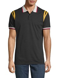 American Stitch Short Sleeve Polo Black