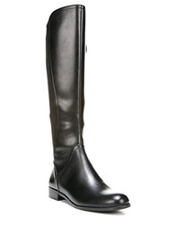 Franco Sarto Maleni Knee High Stretch Faux Leather Boots Black