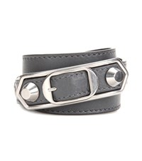 Balenciaga Leather Bracelet Grey