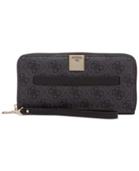 Guess Christy Large Zip Around Wallet Coal