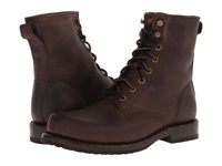 Frye Wayde Combat Brown Washed Antique Pull Up Men's Lace Up Boots Taupe