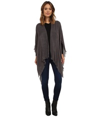 Echo Feather Weight Ruana Dark Grey Women's Sweater Gray