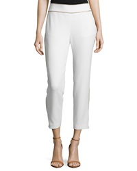 Haute Hippie Cropped Two Tone Tuxedo Pants Swan Gold