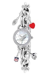 Game Time 'Nfl Chicago Bears' Charm Bracelet Watch 23Mm