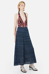 Rachel Comey Multi Stitch Crochet Halter Dress
