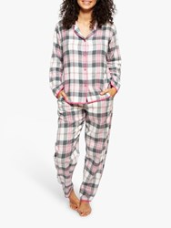 Cyberjammies Lola Check Pyjama Set Pink Cream