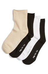 Hue Women's 'Jump For Joy' Roll Ankle Socks