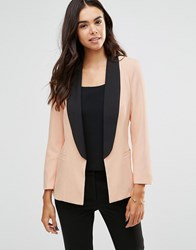 Unique 21 Tailored Blazer With Contrast Trim Pink