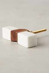 Anthropologie Tanga Toggle Knob White