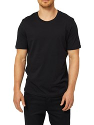 Selected Homme 'The Perfect Tee' Pima Cotton T Shirt Black