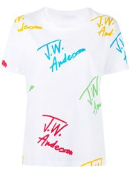 J.W.Anderson J.W. Anderson Signature Print T Shirt White