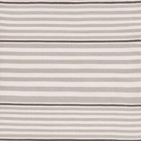 Dash And Albert Rugby Stripe Platinum Rug 76X244cm