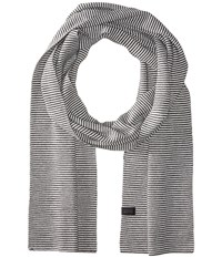 Icebreaker Destiny Scarf Stripe Jet Heather Snow Scarves Gray