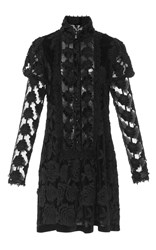 Anna Sui Victorian Rose Mini Dress Black