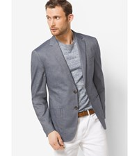 Tailored Fit Chambray Cotton Blazer