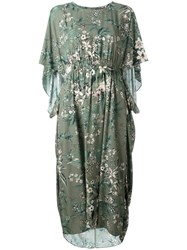 Steffen Schraut Floral Print Midi Dress Green