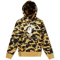 A Bathing Ape 1St Camo College Hoody Yellow