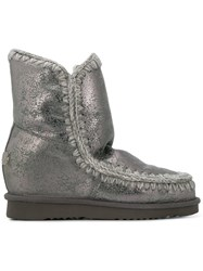 Mou Wedged Eskimo Boots Grey
