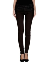 Koral Denim Pants Dark Brown