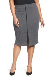 Mblm By Tess Holliday Plus Size Women's Rib Knit Pencil Skirt